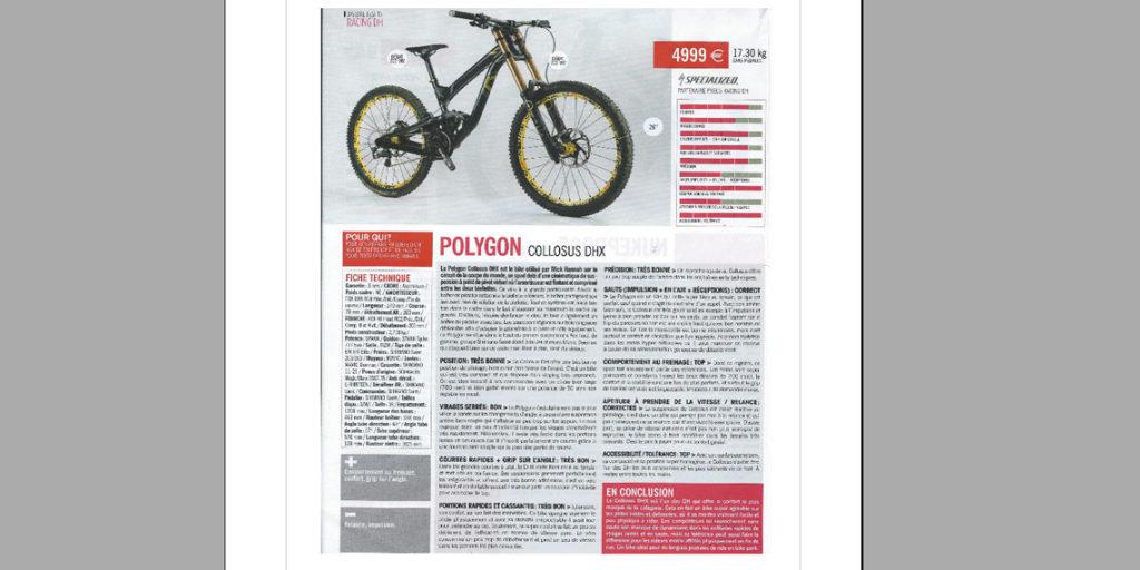 BIG TEST: COLLOSUS DHX (BIG BIKE MAGAZINE FRANCE